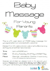 baby massage poster