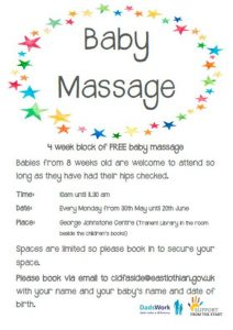 Baby massage 30th May 2016