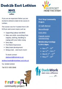 Dads2b eastlothian poster