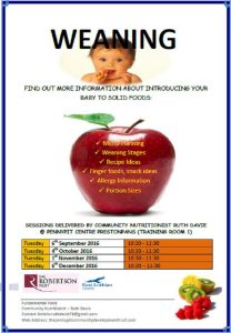 Weaning poster
