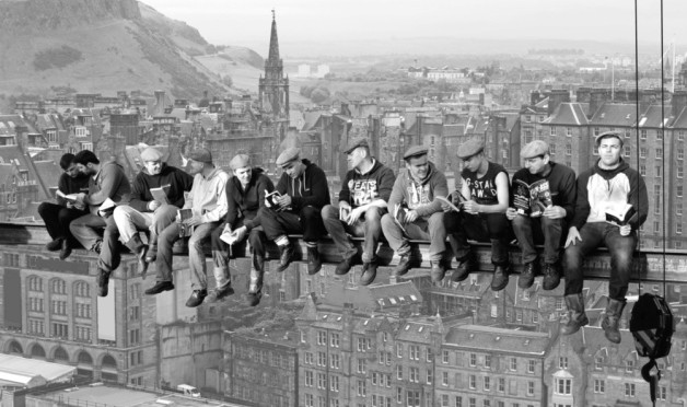 Macmerry's Had-Fab recreates iconic New York girder photo to launch Book Week Scotland