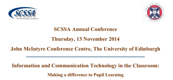 "Listen to Ormiston staff at SCSSA Conference ""ICT in the Classroom:  Making a difference to pupil learning"""